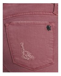 Black Orchid - Pink Noah Ankle Fray Destructed Jeans In Lady Like - Lyst