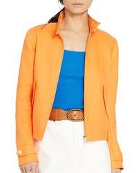 Pink Pony - Orange Lauren Linen Zip Jacket - Lyst