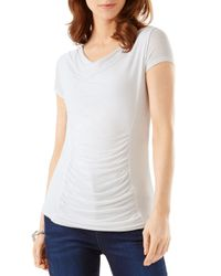 Phase Eight - White Stella Ruched Top - Lyst