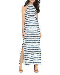 Pink Pony - Blue Lauren Striped Maxi Dress - Lyst