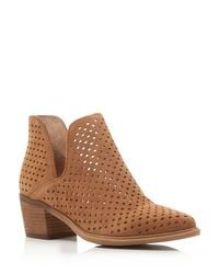 Steven by Steve Madden | Brown Danese Perforated Booties - Compare At $129 | Lyst