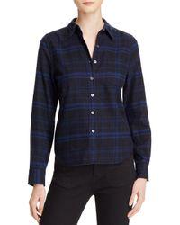 Equipment - Blue Kate Moss For London Plaid Button Down Shirt - Lyst