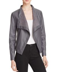 BB Dakota   Gray Peppin Draped Faux Leather Jacket   Lyst