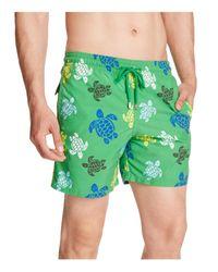 Vilebrequin Green Moorea Multicolor Turtles Swim Trunks for men