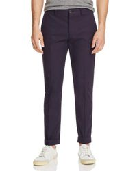 PS by Paul Smith - Blue Gents Stretch Cotton Trousers for Men - Lyst