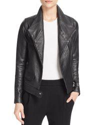 Vince - Black Leather Moto Jacket - Lyst