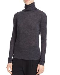 Vince - Gray Funnel Neck Sweater - Lyst