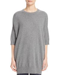 Vince - Gray Cashmere Tunic Sweater - Lyst