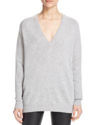 Vince - Gray V-neck Sweater - Lyst