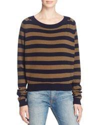 Vince - Multicolor Regiment Stripe Cashmere Sweater - Lyst
