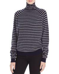 Vince - Multicolor Striped Cashmere Turtleneck Sweater - Lyst