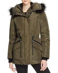 Mackage | Green Katryn Fur Trim Hooded Short Down Coat | Lyst