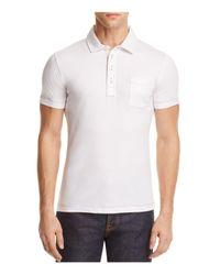 Billy Reid | White Pensacola Slim Fit Polo Shirt for Men | Lyst