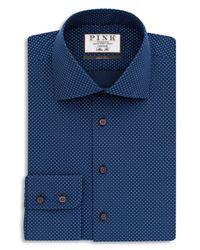 Thomas Pink - Blue Williams Dot Dress Shirt - Bloomingdale's Regular Fit - 100% Bloomingdale's Exclusive for Men - Lyst