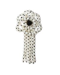 Carolee | White Cultured Freshwater Pearl Floral Pin | Lyst