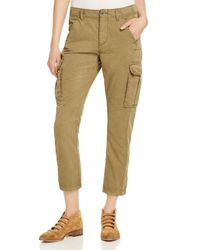 Free People | Multicolor Wild Nothing Cropped Cargo Pants | Lyst