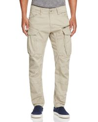 G-Star RAW | Natural Rovic New Tapered Fit Cargo Pants for Men | Lyst