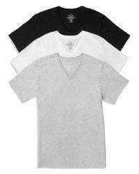 Calvin Klein - Black Cotton Classics V-neck Tees, Pack Of 3 for Men - Lyst