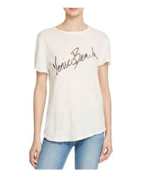 Current/Elliott - White The Rolled Sleeve Crew Tee - Lyst