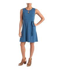 Lyssé - Blue Zanzibar Striped Drawstring Dress - Lyst