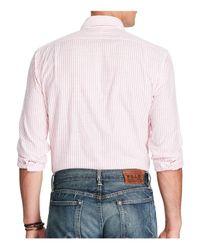 Polo Ralph Lauren - Pink Stripe Classic Fit Button-down Shirt for Men - Lyst