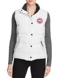Canada Goose | White Freestyle Down Vest | Lyst
