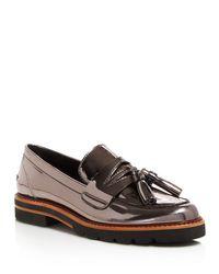 Stuart Weitzman Multicolor Manila Metallic Platform Loafers