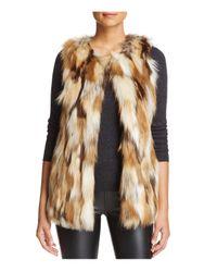 Love Token | Multicolor Riva Patched Faux Fur Vest | Lyst