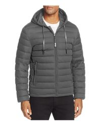 Andrew Marc | Gray Packable Quilted Down Jacket for Men | Lyst