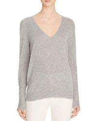 Theory   Gray Adrianna Rl Cashmere Sweater   Lyst