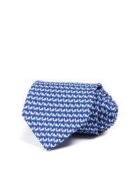 Ferragamo | Blue Foxes Neat Classic Tie for Men | Lyst
