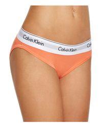 Calvin Klein - Orange Bikini - Modern Cotton #f3787 - Lyst