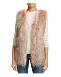 Via Spiga | Pink Faux Fur Vest | Lyst