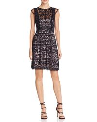 Parker - Black Rosewell Embroidered Dress - Lyst