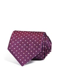 Canali | Purple Small Dot In Square Outline Classic Tie for Men | Lyst