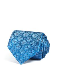 Canali | Blue Florette Classic Tie for Men | Lyst