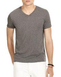 Polo Ralph Lauren | Gray Jersey V-neck Tee for Men | Lyst