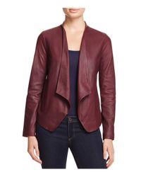 BB Dakota | Purple Wyden Harper Draped Leather Jacket | Lyst