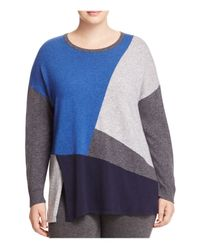 Marina Rinaldi | Blue Alassio Color Block Sweater | Lyst