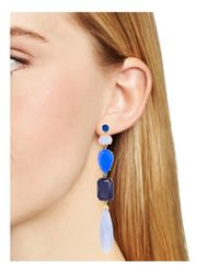 kate spade new york | Blue Symphony Sparkle Drop Earrings | Lyst
