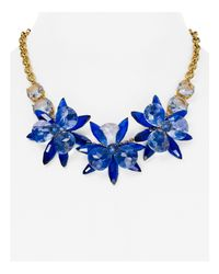 kate spade new york - Blue Blooming Brilliant Floral Collar Necklace - Lyst