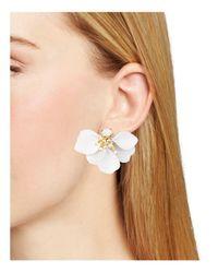 Kate Spade - White Statement Stud Earrings - Lyst