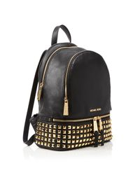 MICHAEL Michael Kors - White Small Rhea Zip Studded Backpack - Lyst