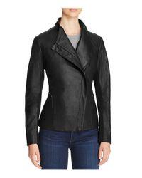T Tahari - Black Kelly Leather Jacket - Lyst