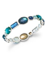 Ippolita | Blue Sterling Silver Rock Candy Wonderland All Stone Bangle In Merino | Lyst