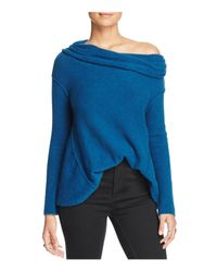 Free People | Blue Strawberry Fields Off-the-shoulder Sweater | Lyst