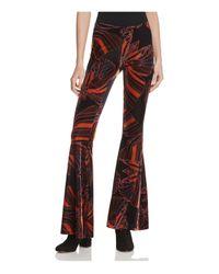 Free People | Black Float Away Printed Velvet Pants | Lyst