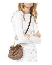 MICHAEL Michael Kors   Multicolor Isadore Top Handle Small Leather Messenger   Lyst