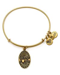 ALEX AND ANI | Metallic Because I Love You Expandable Wire Bangle | Lyst
