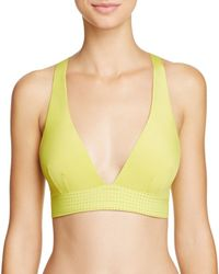 Elle Macpherson | Yellow The Body Crop Top Racerback Bralette #emcrp1001 | Lyst